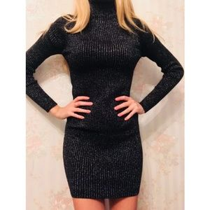 New with tags turtleneck sparkly sweater dress